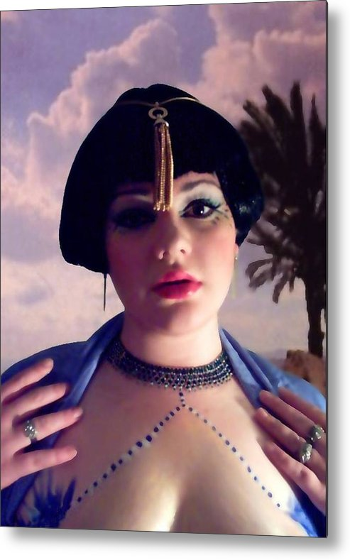 Face Metal Print featuring the photograph Thoughts in Egypt by Scarlett Royal