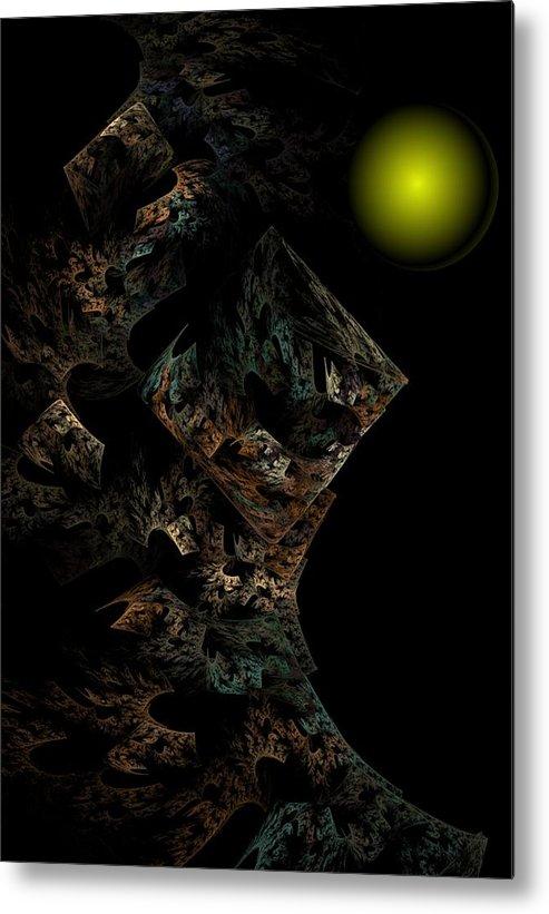 Fantasy Metal Print featuring the digital art Untitled 12-18-09 by David Lane