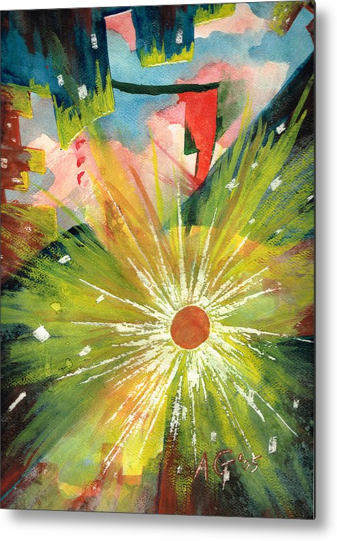 Downtown Metal Print featuring the painting Urban Sunburst by Andrew Gillette