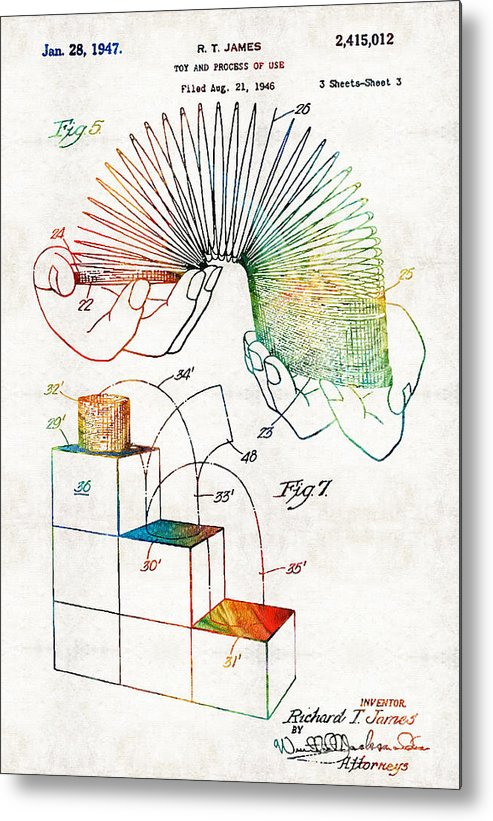 Slinky Patent Print Old Look