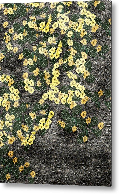 Anne Norskog Metal Print featuring the painting Wyoming Cactus by Anne Norskog
