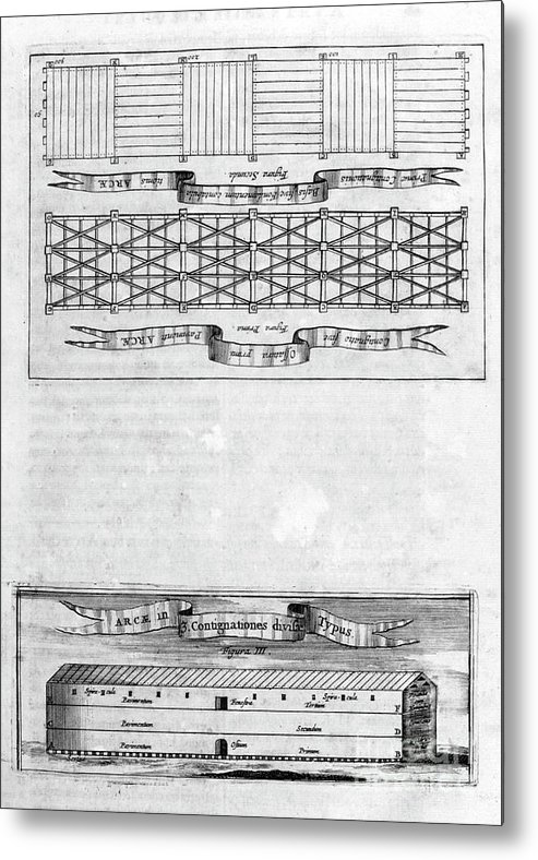 Engraving Metal Print featuring the drawing Description Of The Ark, 1675. Artist by Print Collector