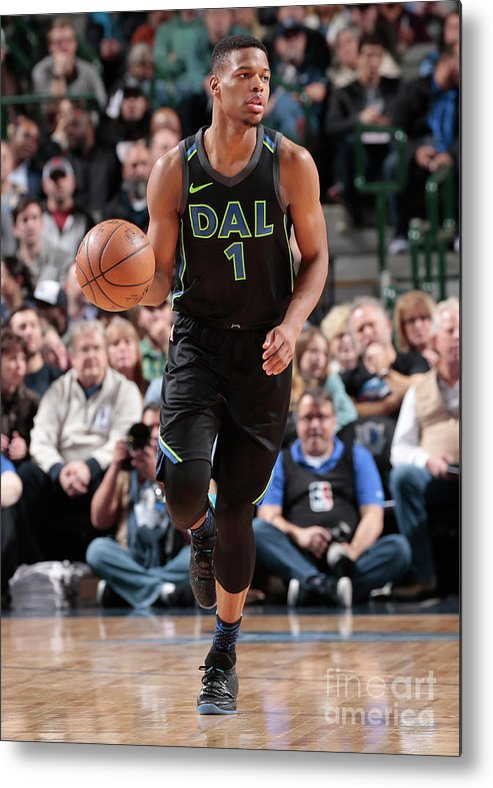 Nba Pro Basketball Metal Print featuring the photograph Miami Heat V Dallas Mavericks by Glenn James