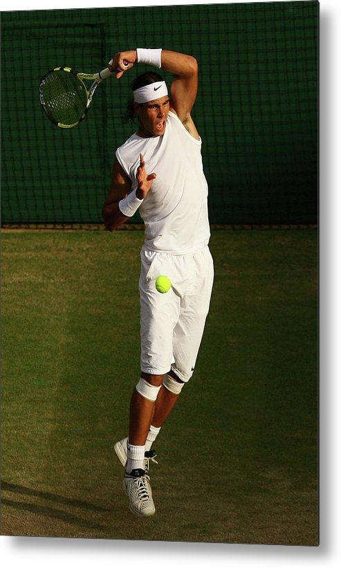 Rafael Nadal Metal Print featuring the photograph The Championships - Wimbledon 2008 Day by Ian Walton