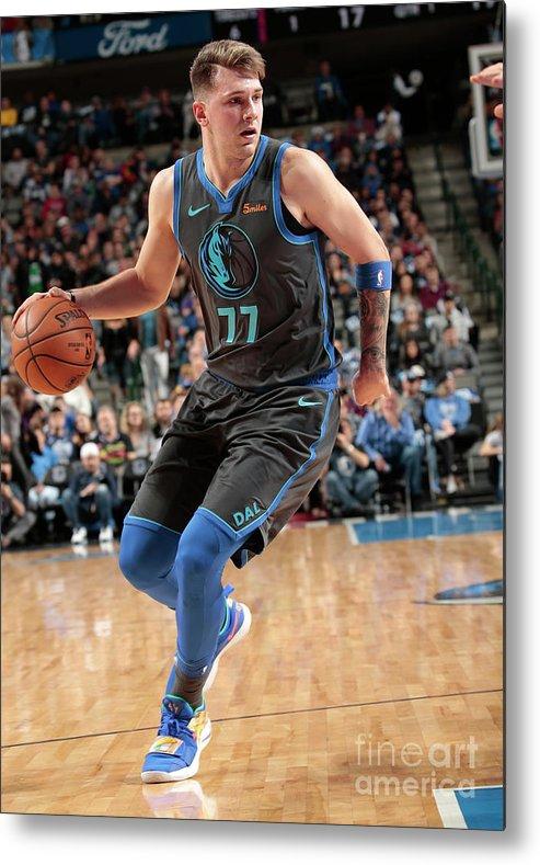 Nba Pro Basketball Metal Print featuring the photograph Sacramento Kings V Dallas Mavericks by Glenn James