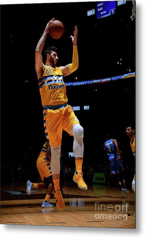 Jusuf Nurkić Metal Print featuring the photograph Oklahoma City Thunder V Denver Nuggets by Bart Young