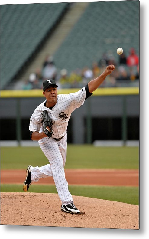 American League Baseball Metal Print featuring the photograph Minnesota Twins V Chicago White Sox by Brian Kersey