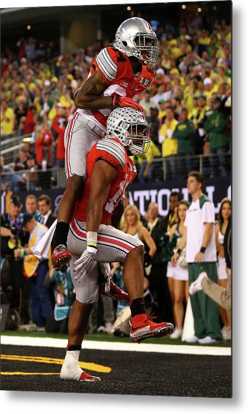 Scoring Metal Print featuring the photograph National Championship - Oregon V Ohio by Ronald Martinez