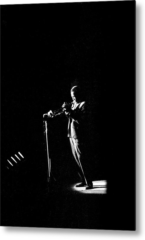 Performance Metal Print featuring the photograph Photo Of Miles Davis by David Redfern