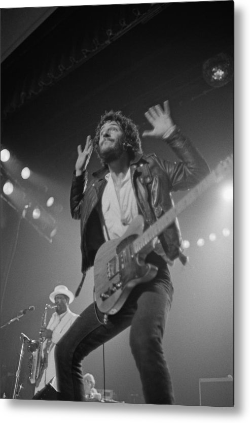 Bruce Springsteen Metal Print featuring the photograph Springsteen Live In New Jersey by Fin Costello
