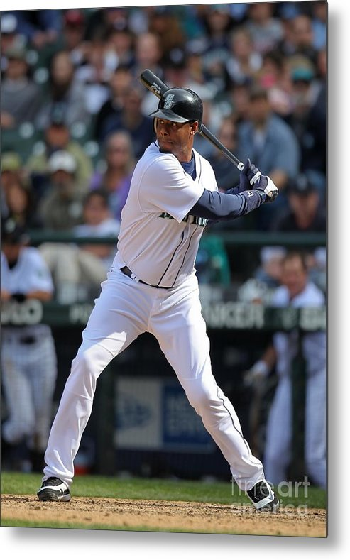 American League Baseball Metal Print featuring the photograph Detroit Tigers V Seattle Mariners by Otto Greule Jr