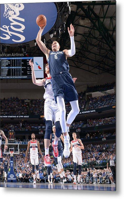 Nba Pro Basketball Metal Print featuring the photograph Washington Wizards V Dallas Mavericks by Glenn James