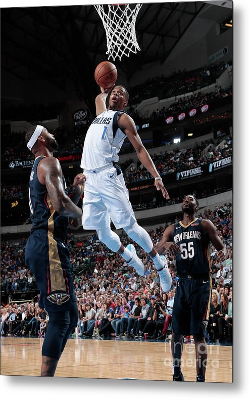 Nba Pro Basketball Metal Print featuring the photograph New Orleans Pelicans V Dallas Mavericks by Glenn James