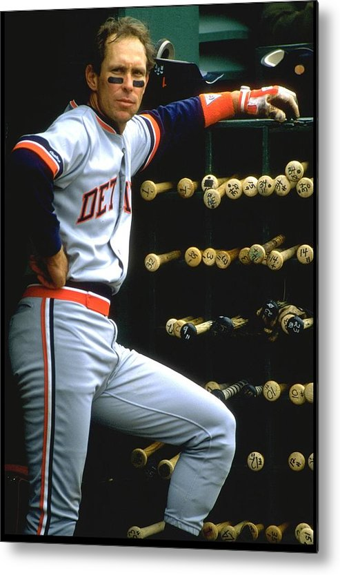 1980-1989 Metal Print featuring the photograph Alan Trammell Tigers by Otto Greule Jr