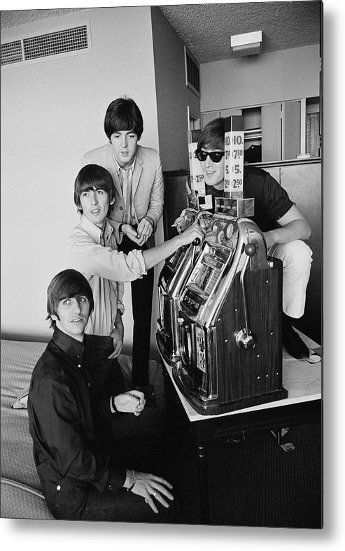 Singer Metal Print featuring the photograph Beatles In Vegas by Harry Benson