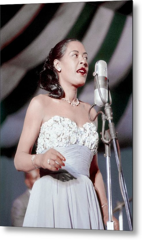 Billie Holiday Metal Print featuring the photograph Billie Holiday At Newport Jazz by Bill Spilka