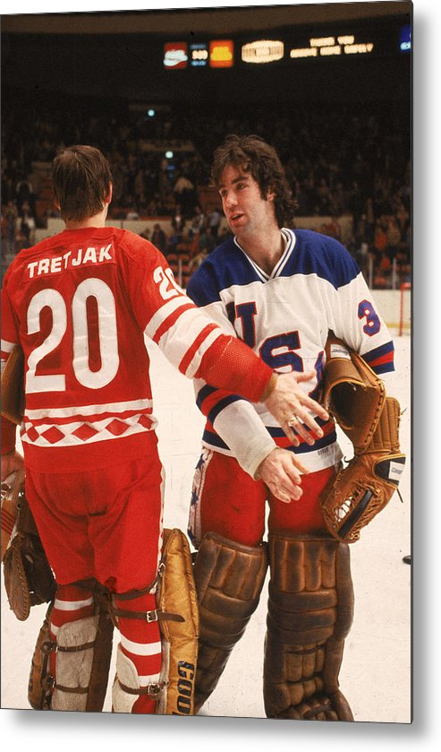 1980-1989 Metal Print featuring the photograph Cccp Beats Us Rivals In Exhibition Game by B Bennett