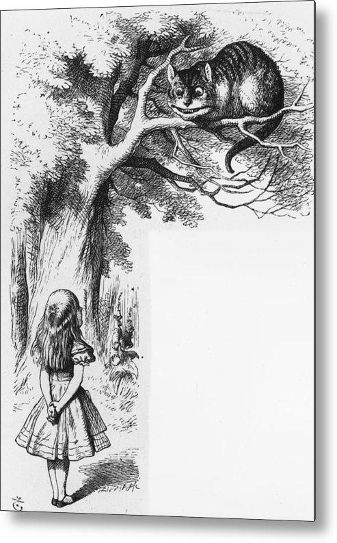Child Metal Print featuring the digital art Cheshire Cat by Rischgitz