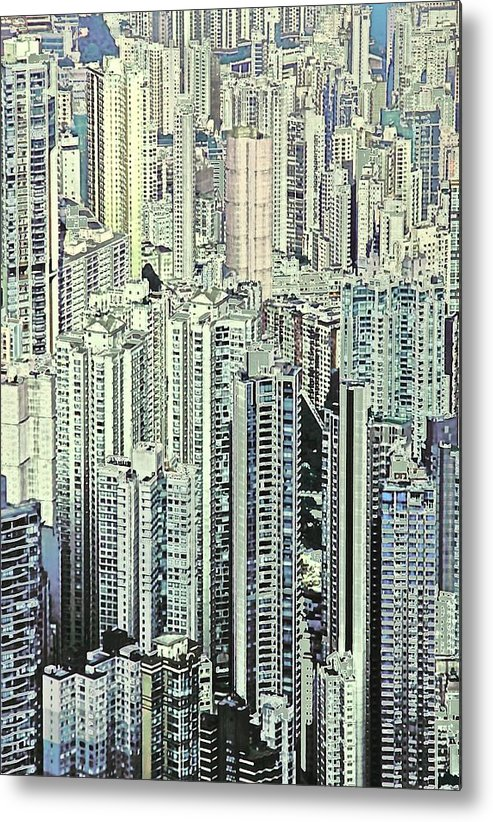 City Metal Print featuring the photograph City by Gillis Cone