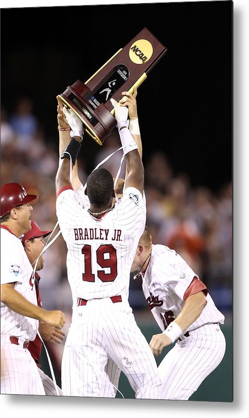 Game Two Metal Print featuring the photograph College World Series - Game Two by Christian Petersen