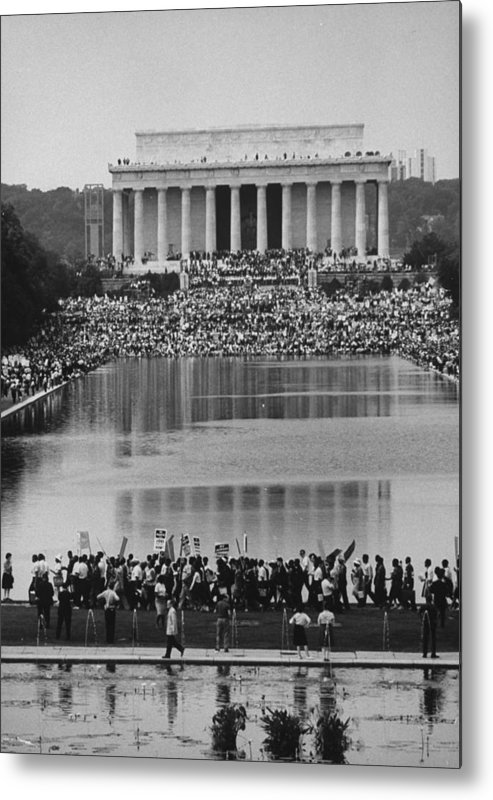 Timeincown Metal Print featuring the photograph Crowd Of People Attending A Civil Rights by John Dominis