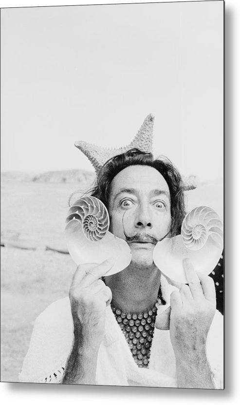 Painter Metal Print featuring the photograph Dali With Shells by Charles Hewitt