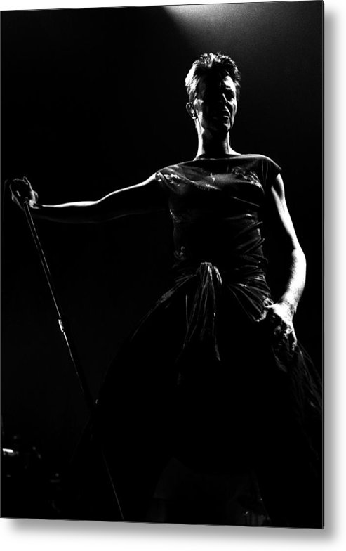 David Bowie Metal Print featuring the photograph David Bowie by Paul Bergen