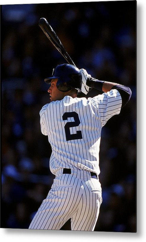 People Metal Print featuring the photograph Derek Jeter 2 by Al Bello