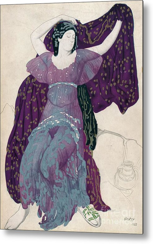 Gouache Metal Print featuring the drawing Echo Abandonée, 1922, 1923 by Print Collector