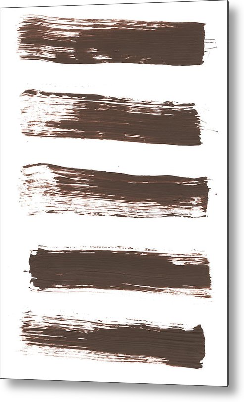 Textured Metal Print featuring the photograph Five Tan Streaks Of Paint by Kevinruss