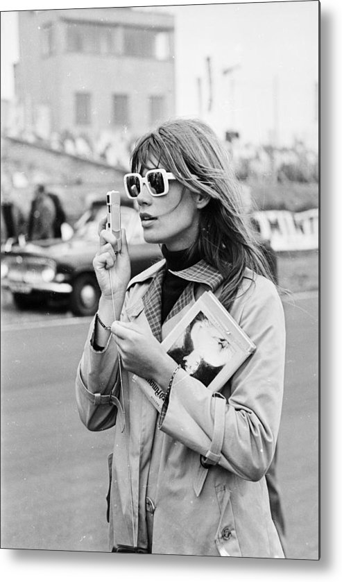 Grand Prix Metal Print featuring the photograph Francoise Hardy by Victor Blackman