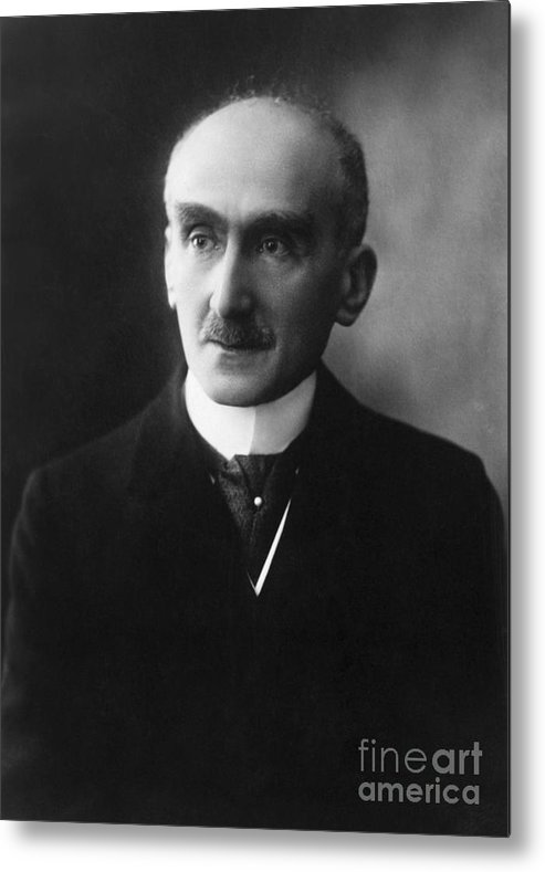 Mature Adult Metal Print featuring the photograph French Philosopher Henri-louis Bergson by Bettmann