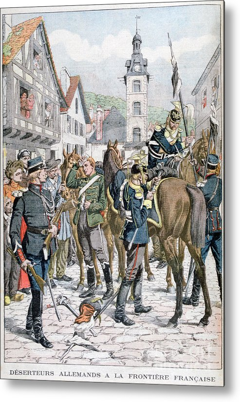 Horse Metal Print featuring the drawing German Deserters At The French by Print Collector