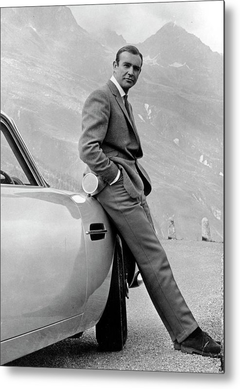 Releasing Metal Print featuring the photograph Goldfinger by Michael Ochs Archives