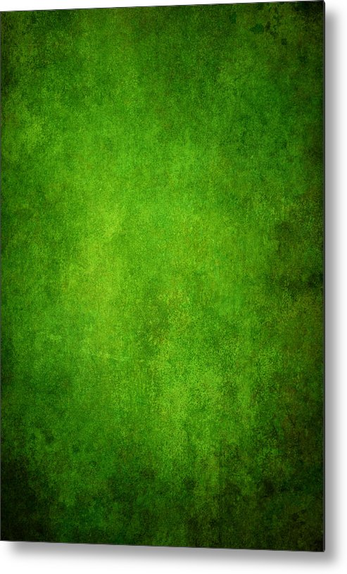 Stained Metal Print featuring the photograph Green Grunge Background by Mammuth