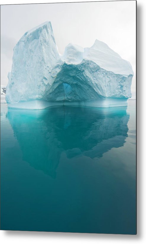 Iceberg Metal Print featuring the photograph Iceberg And Reflections, Antarctic by Eastcott Momatiuk