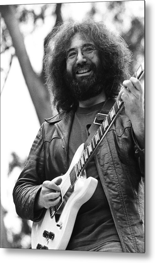 Music Metal Print featuring the photograph Jerry Garcia Performs Live by Richard Mccaffrey
