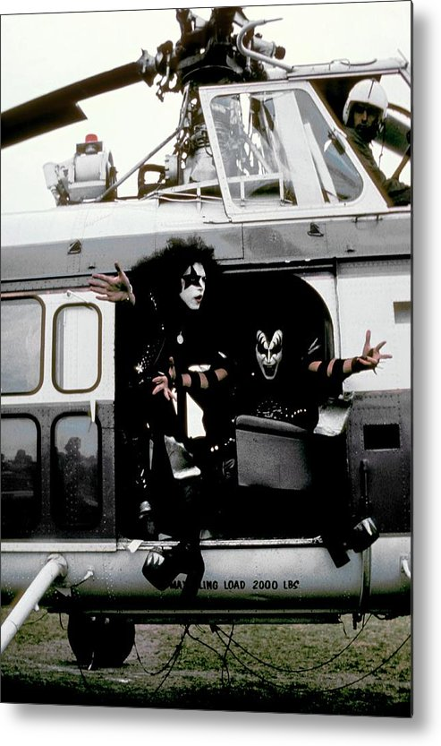 Heavy Metal Metal Print featuring the photograph Kiss In Cadillac by Fin Costello
