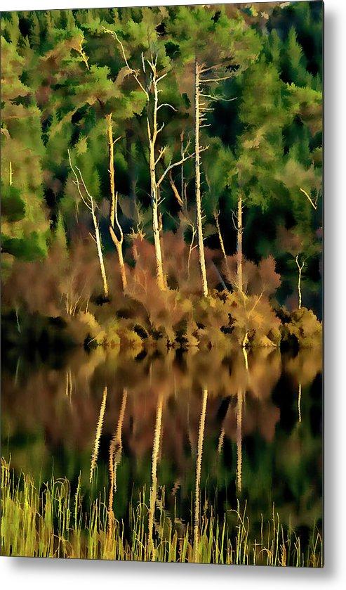 Loch Lundie Metal Print featuring the mixed media Loch Lundie Digital Painting by Smart Aviation