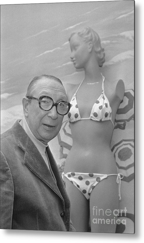 People Metal Print featuring the photograph Louis Reard With Bikini by Bettmann