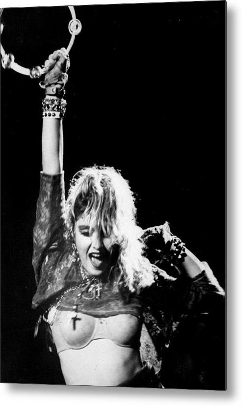 Madonna - Singer Metal Print featuring the photograph Madonna Concert Performs At Madison by New York Daily News Archive