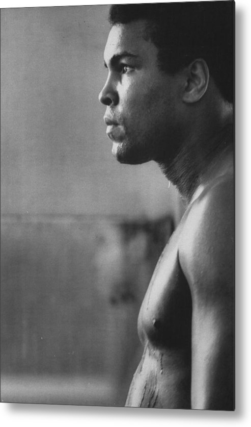 Joe Frazier Metal Print featuring the photograph Muhammad Ali by John Shearer