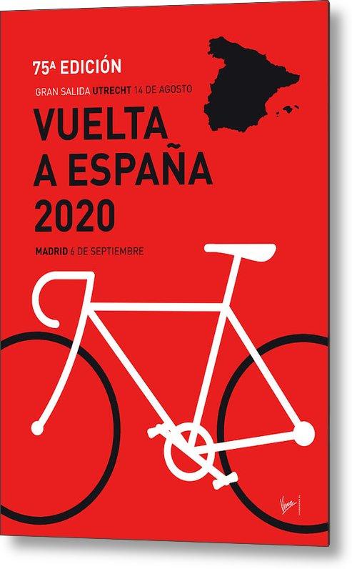 2020 Metal Print featuring the digital art My Vuelta A Espana Minimal Poster 2020 by Chungkong Art