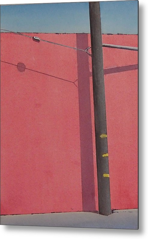 Metal Print featuring the painting Pink wall by Philip Fleischer