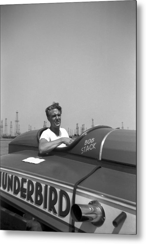 Motorboat Metal Print featuring the photograph Robert Stack by Michael Ochs Archives