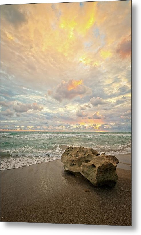 Seascape Metal Print featuring the photograph Sea and Sky by Steve DaPonte