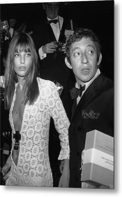 Artist Metal Print featuring the photograph Serge Gainsbourg And Jane Birkin by Keystone-france