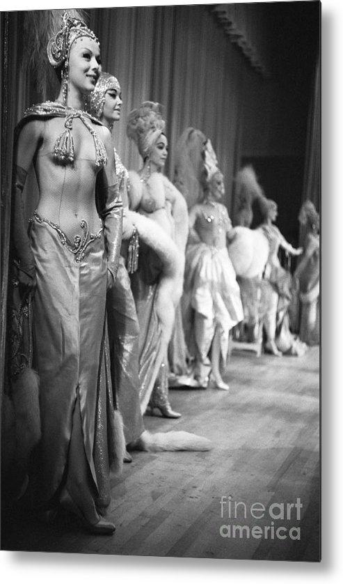 People Metal Print featuring the photograph Showgirls At Latin Quarter Nightclub by Bettmann