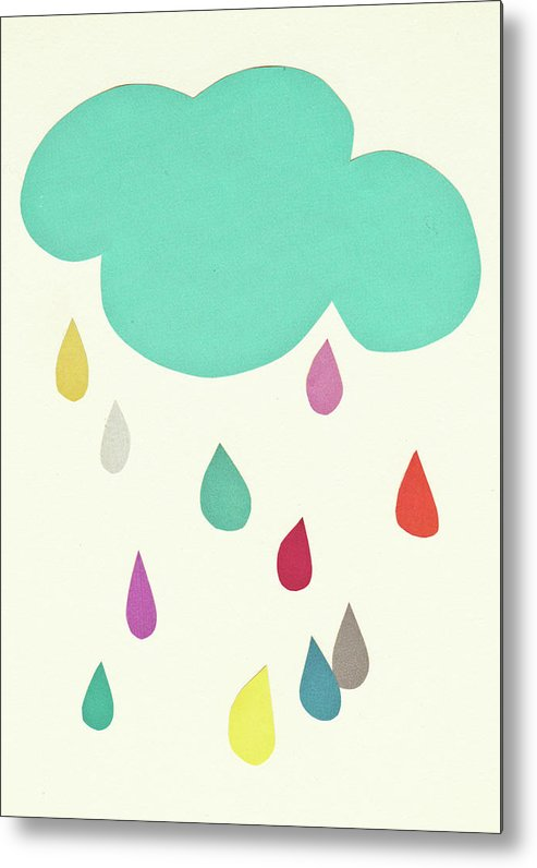 Clouds Metal Print featuring the mixed media Sunshine and Showers by Cassia Beck
