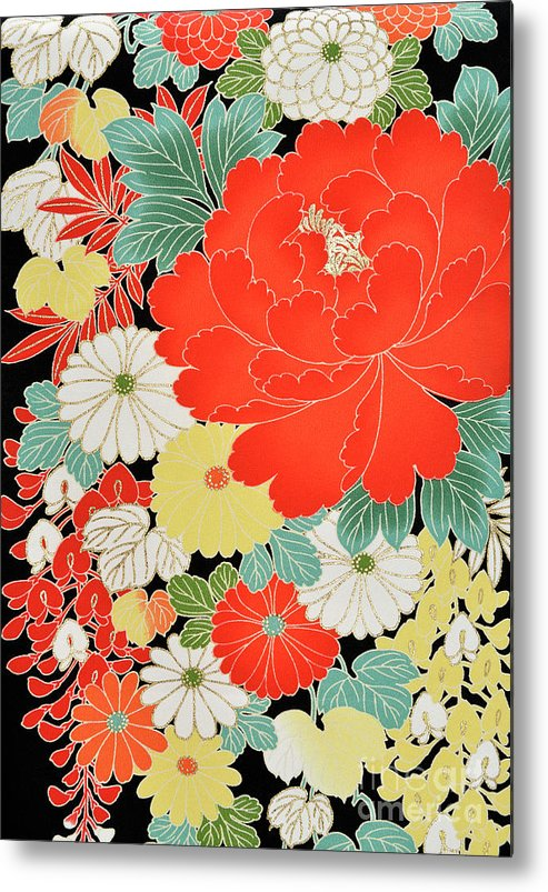 Art Metal Print featuring the photograph The Japanese Kimono, Close by Yagi Studio